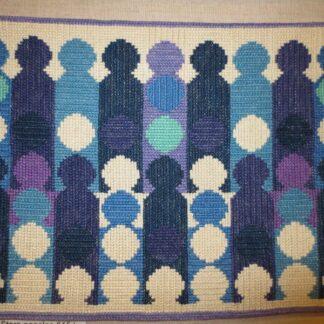 broderi linnetvist stora panelen blå