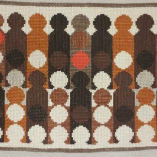 broderi linnetvist stora panelen brun
